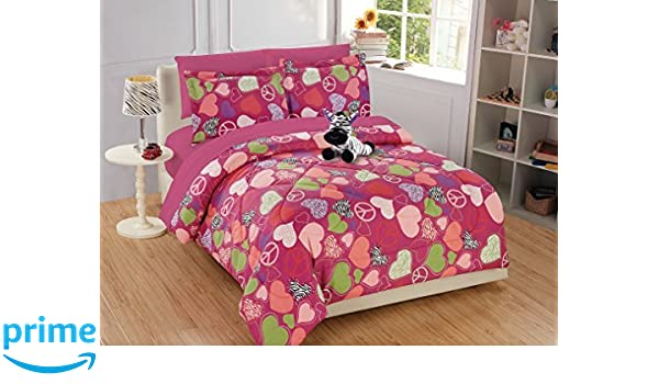 Twin Size 6pc Comforter Set for Girls//Teens Tiara Crowns Princess Purple Lavender Pink White New Linen Plus