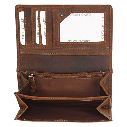 Leather Womens Wallet Hand Clutch Gift for Her Shopping Wallets for Women Girls