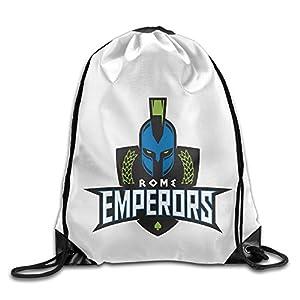 YesYouGO Roma Emperors Logo Unisex Drawstring Backpacks/Bags