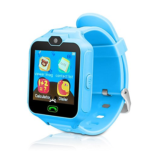 YIKESHU Kid Smart Watch with GPS Tracker, Touchscreen, Camera, Touch SOS Remote Alarm, Fitness Trackers Holiday Birthday Toys Gifts by YIKESHU
