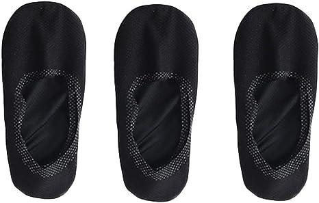 3 pairs Breathable Ice Silk Socks Mens Ice Silk Soft Non-Slip Thin Sports Socks