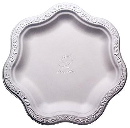 [50 COUNT] 9u0026quot; inch Disposable Floral Medium Premium White Plates - Acanthus Collection  sc 1 st  Amazon.com & Amazon.com: [50 COUNT] 9