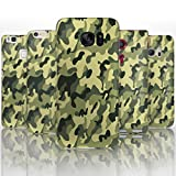 Hairyworm - (BG0077) Green Camouflage Sony Xperia Z2 semi flex plastic cell phone case, cover, hard plastic cell phone case, cell phone cover, cell phone back cover, cell phone protector