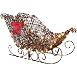 Starry Night Grapvine Sleigh Yard Decoration
