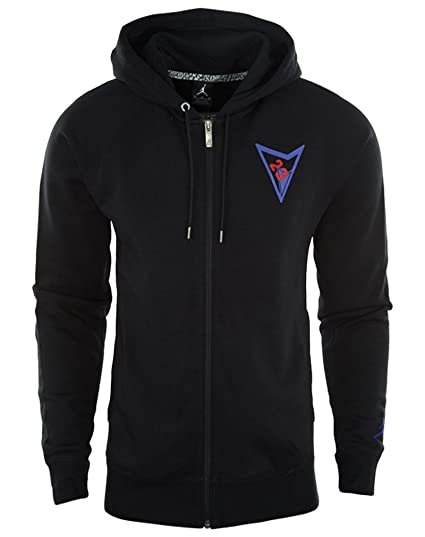 c8c57962d00c Amazon.com  Jordan Air Retro AJ VII Full Zip Men s Hoodie Black ...