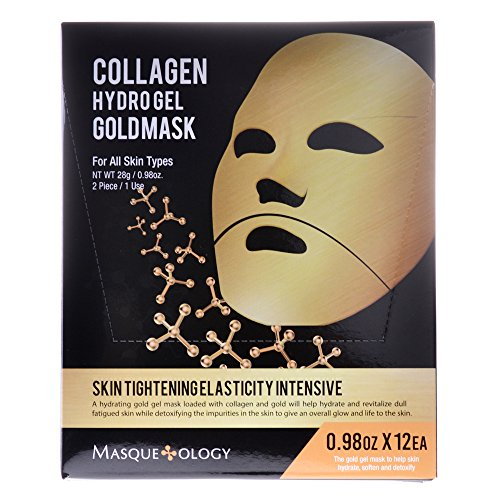 51BMEluy0nL Masqueology Collagen Hydro Gel Gold Mask, 12 ct.