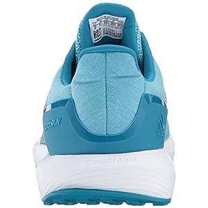 adidas Performance Girls' RapidaRun K Running Shoe, Energy Aqua/Sun Glow/Mystery Petrol, 1 M US Little Kid
