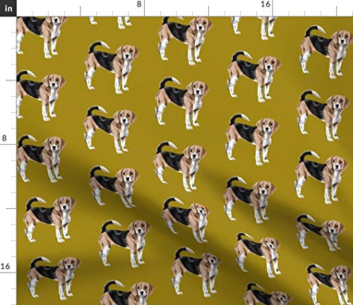 (Beagle Fabric - Beagles Hound Dog Dogs Pet Puppy Animal Beagle Snoopy Dog Dogs Puppy Puppies Print on Fabric by The Yard - Fleece for Sewing Blankets Loungewear and No-Sew)