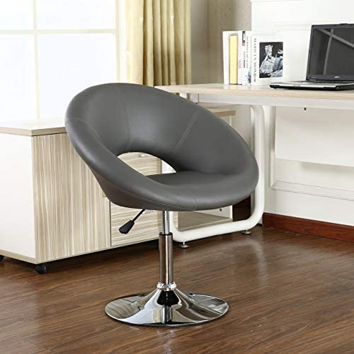 Roundhill Furniture FBA_PC160GY Adjustable Swivel Accent Chair