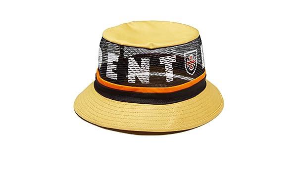 4c457254dbafd4 Amazon.com: Brixton x Independent F/U Hardy Bucket Hat - Yellow - SM:  Clothing
