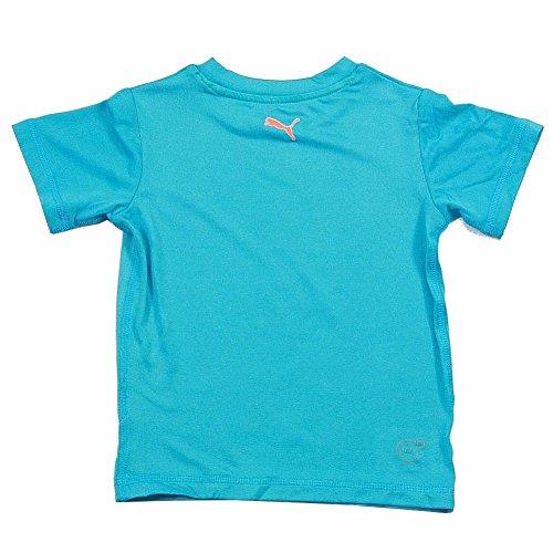 Puma Baby Boys Boys No. 1 Logo Tee Shirt, Aqua Blue