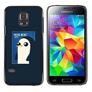 TopCaseStore / la caja del caucho duro de la cubierta de protección de la piel - Watercolor Baby Pink - Samsung Galaxy S5 Mini, SM-G800, NOT S5 REGULAR!