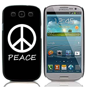 Graphic4You Peace Sign Design Hard Case Cover for Samsung Galaxy S3 S III (Black)