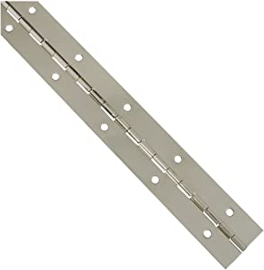 National Hardware N265-389 V570 Continuous Hinge in Nickel,1-1/2