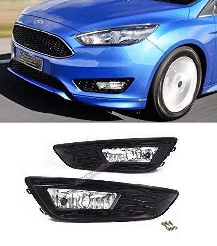 Remarkable Power FL7094 For 2015-2016 Ford Focus, Set of Front Pair Fog Lights Clear Lens Bumper Lamps