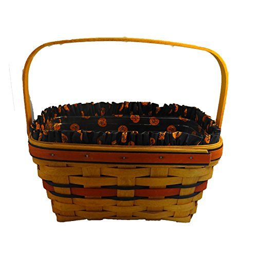 Longaberger Halloween Fall Collector Boo Pumpkin Basket & Fabric Liner NO PLASTIC PROTECTOR