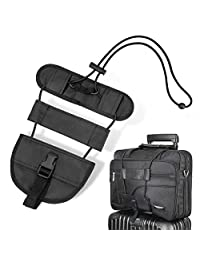Luxebell Bag Bungee, Adjustable Add A Bag Strap Carry On Luggage Straps Suitcase Belt Travel Accessories