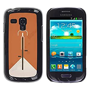 Paccase / SLIM PC / Aliminium Casa Carcasa Funda Case Cover para - Bicycle Ginger Vintage Clean Minimalist - Samsung Galaxy S3 MINI NOT REGULAR! I8190 I8190N