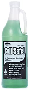 ComStar 90-299 Coil Safe Professional Grade Neutral pH Evaporator and Condenser Coil Cleaner, 1 quart Bottle, Green
