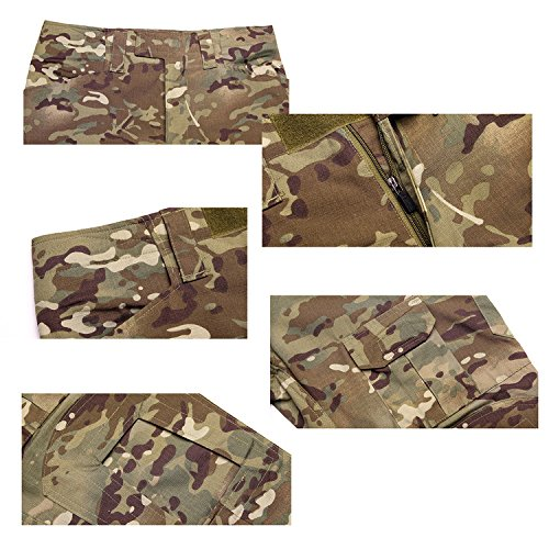Bdu Shooting Militari Combat Pantaloni Tattici Da Per Combattimento Qmfive Men's Camo Paintball Airsoft Softair Army Tactical Aor2 Military F1zxqn