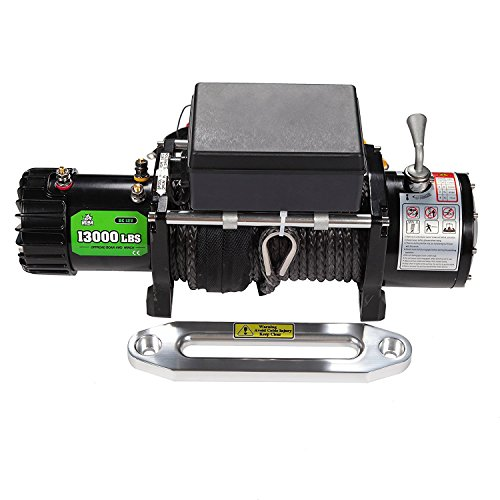Recovery Winch (OFFROAD BOAR Synthetic Rope Waterproof Winch - 13000 lb. Load Capacity)