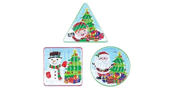Amazon.com: Navidad laberinto rompecabezas 6pk por bolsas de ...