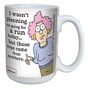Tree-Free Greetings lm43895 Hilarious Aunty Acid Running by The Backland Studio Ceramic Mug, 15-Ounce by Tree-Free Greetings