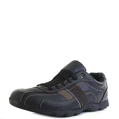 5d1a73ffa81 Mens American Eagle Myers Black Brown Casual Comfort Shoes Normal Width Size  9