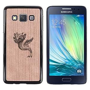 - Cute Baby Dragon Seahorse - - Funda Delgada Cubierta Case Cover de Madera FOR Samsung Galaxy A3 a3000 BullDog Case