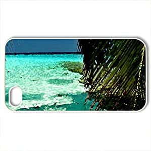 Beautiful Beach - Case Cover for iPhone 4 and 4s (Beaches Series, Watercolor style, White)