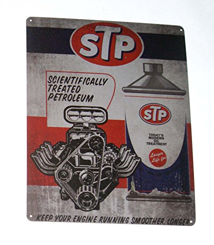 STP-Todays-Modern-Oil-Treatment-Nostalgic-Vintage-Collectible-Tin-Metal-Sign