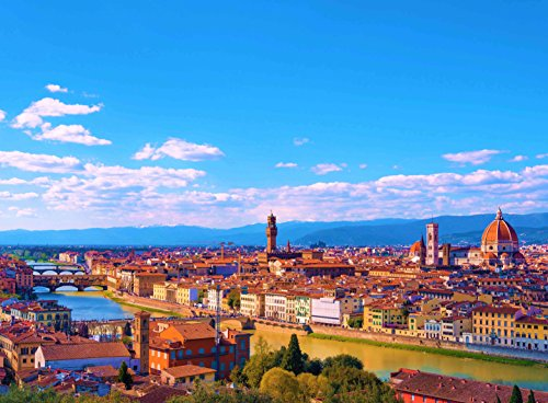 - Adult Jigsaw Puzzle Panoramic View City Florence Italy 500-Pieces