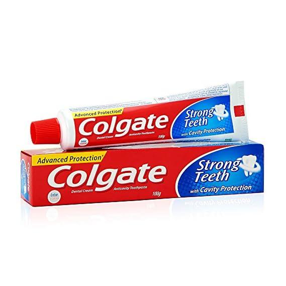 Colgate Toothpaste Strong Teeth Dental Cream -105+5g Free(Anti-cavity) Extra grammage Free