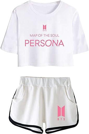SZT BTS - Conjunto de Camiseta y pantalón Corto para Hombre ...