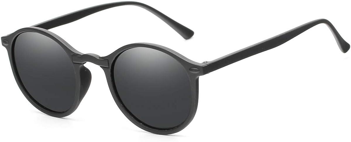 Dollger Polarized Round Sunglasses Men Women Retro Ultralight Circle Sunglasses UV400 Protection