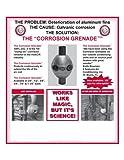 "Zinc Anode 3/4"" Corrosion Grenade # AC Zincs"