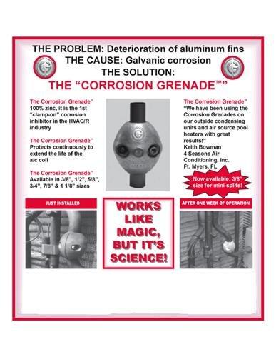 Zinc Anode 3/4'' Corrosion Grenade # AC Zincs ACZ-3/4
