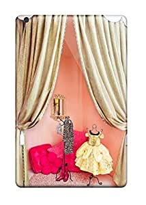Awesome Design Girl8217s Room Dressing Area Or Play Stage With Pink Walls And Gold Curtains Hard Case Cover For Ipad Mini/mini 2