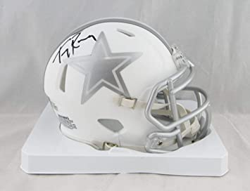 65efbfc314c Image Unavailable. Image not available for. Color: Tony Romo Autographed  Dallas Cowboys Ice Mini Helmet ...