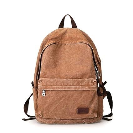 95d21c50adb9 Amazon.com: HAOHAOWU Backpack Men's Casual Canvas Bag Backpack ...