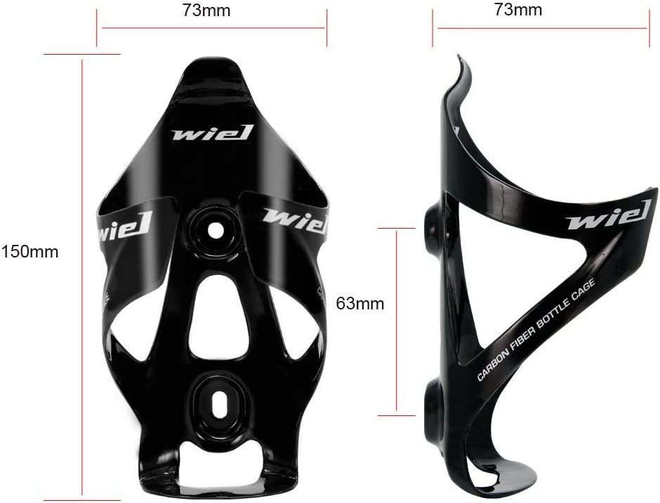 Wiel Full Carbon Fiber Bicycle Bike Light Drink Water Bottle Cage Holder