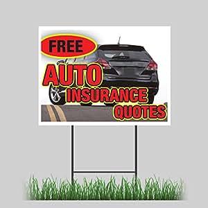 "Amazon.com : 12""x18"" Free Auto Insurance Quotes Car"