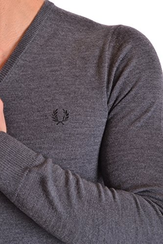 Fred Perry Homme MCBI128032O Gris Laine Maille