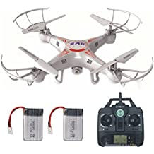 RC Drone with HD Camera, LAMASTON X5C-1 Remote Control Toy Helicopter, Quadcopter Drones for Kids with Headless Mode + 720P Camera + 4GB Memory Card + Bonus Battery (White)