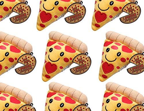 (Plush Pizza Slice Valentine - Cute Unique Valentines Day Cards for Kids 1 Dozen)