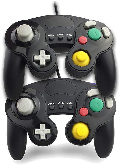 Gamecube Controller, Mando de Juegos con Turbo y Funciones lentas para Gamecube y Wii, Compatible con Nintendo Switch, Wii U y PC (2 Paquetes): Amazon.es: Electrónica