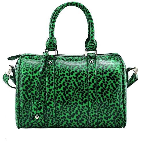 TrendStar - Cartera de mano Mujer Green Patent Handbag