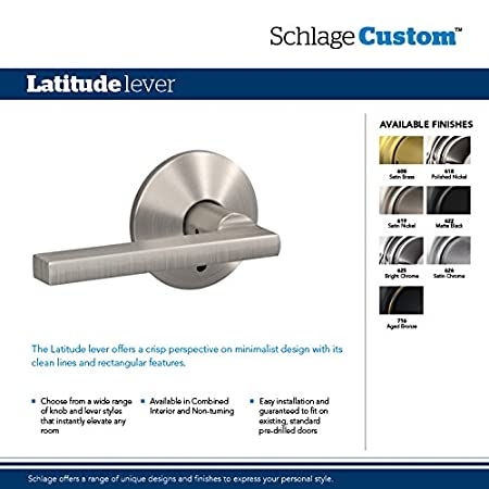 Amazon.com: Schlage Custom Cen Latitude palanca sin giro con ...