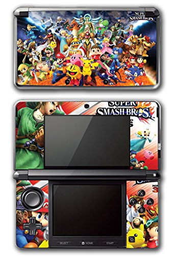 Super Smash Bros Melee Brawl Mario Pikachu Yoshi Mega Man Zelda Sonic Metroid Fire Emblem Video Game Vinyl Decal Skin Sticker Cover for Original Nintendo 3DS System