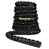 Bonnlo Exercise Rope 1.5″/2″ Width Poly Dacron 30/40/50ft Length, Battle Rope Workout Training Undulation Rope Fitness Rope Climbing Rope (2″ x30Ft Length) Review